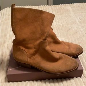 Lucky Brand orange suede boots!!